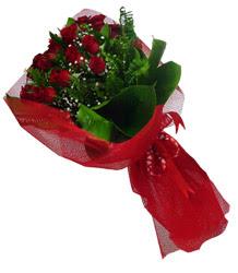 Bursa çiçek online çiçek siparişi  10 adet kirmizi gül demeti