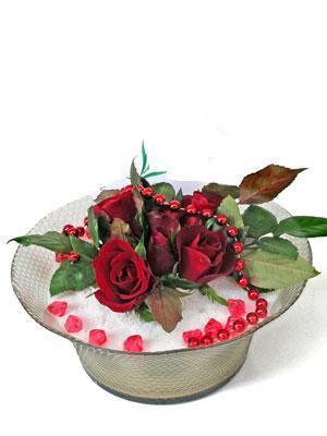 Bursa çiçek satışı  EN ÇOK Sevenlere 7 adet kirmizi gül mika yada cam tanzim