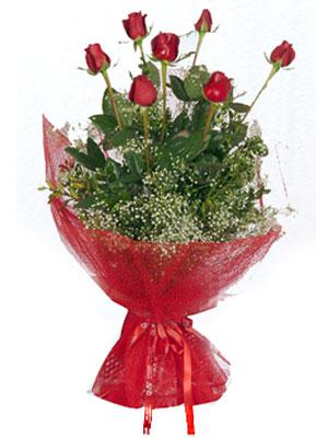 Bursa çiçek siparişi vermek  7 adet gülden buket görsel sik sadelik