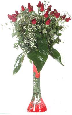 Bursa çiçekçi mağazası  19 ADET GÜL VE FIL CAM AYAGI