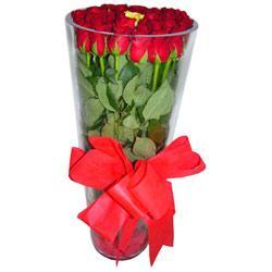 Bursa internetten çiçek siparişi  12 adet kirmizi gül cam yada mika vazo tanzim
