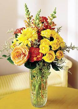 Bursa çiçek siparişi sitesi  mika yada cam içerisinde karisik mevsim çiçekleri