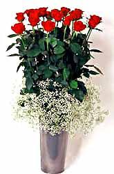 Bursa ucuz çiçek gönder  9 adet kirmizi gül cam yada mika vazoda