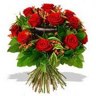9 adet kirmizi gül ve kir çiçekleri  Bursa çiçek yolla