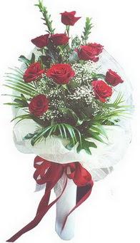 Bursa çiçek yolla , çiçek gönder , çiçekçi   10 adet kirmizi gülden buket tanzimi özel anlara