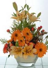 Bursa çiçek siparişi vermek  cam yada mika vazo içinde karisik mevsim çiçekleri