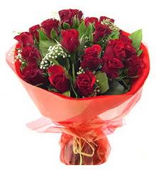 Bursa internetten çiçek satışı  11 adet kimizi gülün ihtisami buket modeli