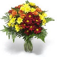 Bursa çiçek gönderme sitemiz güvenlidir  Karisik çiçeklerden mevsim vazosu