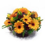 gerbera ve kir çiçek masa aranjmani  Bursa çiçek satışı