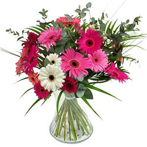 15 adet gerbera ve vazo çiçek tanzimi  Bursa çiçek , çiçekçi , çiçekçilik