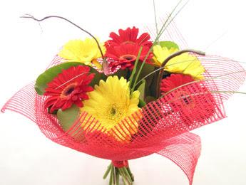 9 adet gerbera çiçeklerinden buket  Bursa güvenli kaliteli hızlı çiçek