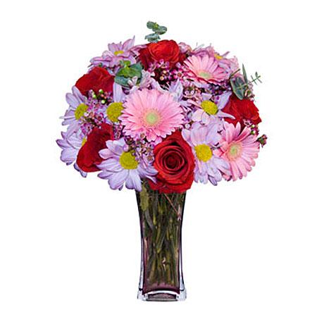 Görsel hediye karisik cam mevsim demeti  Bursa İnternetten çiçek siparişi