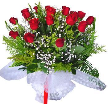 11 adet gösterisli kirmizi gül buketi  Bursa çiçek yolla