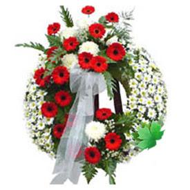 Cenaze çelengi cenaze çiçek modeli  Bursa çiçekçi mağazası