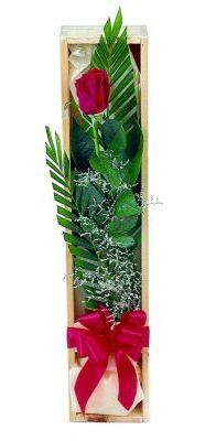 1 adet kutuda kirmizi gül  Bursa çiçek online çiçek siparişi