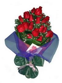 12 adet kirmizi gül buketi  Bursa çiçek , çiçekçi , çiçekçilik