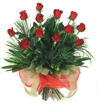 Çiçek yolla 12 adet kirmizi gül buketi  Bursa cicekciler , cicek siparisi
