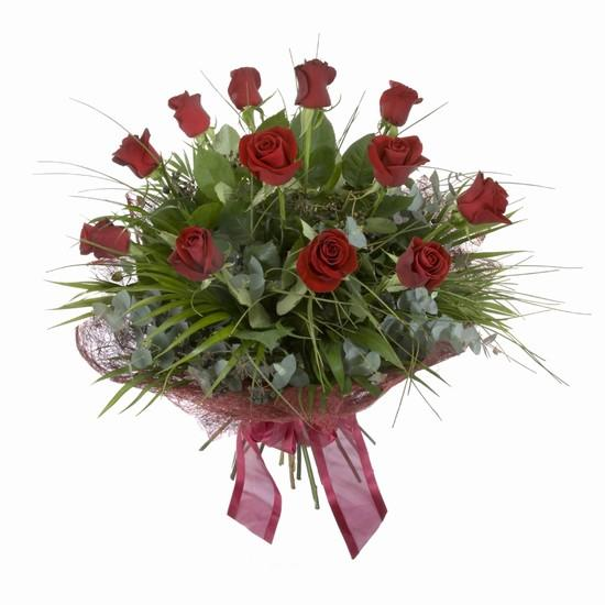 Etkileyici buket 11 adet kirmizi gül buketi  Bursa çiçek yolla