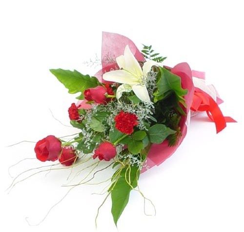 Mevsim çiçeklerinden karisik buket  Bursa ucuz çiçek gönder