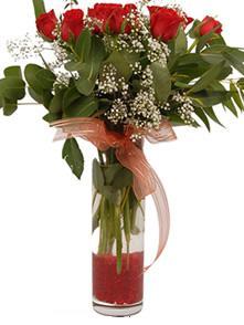 Bursa çiçekçi mağazası  11 adet kirmizi gül vazo çiçegi