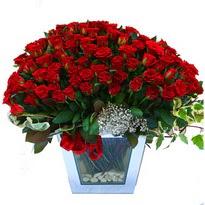 Bursa çiçek gönderme   101 adet kirmizi gül aranjmani