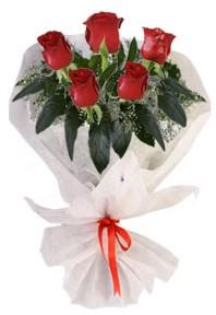 5 adet kirmizi gül buketi  Bursa çiçek gönderme