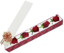 Bursa çiçek yolla  kutu içerisinde 5 adet kirmizi gül