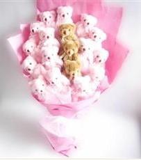 17 adet pelus ayicik buketi  Bursa hediye sevgilime hediye çiçek