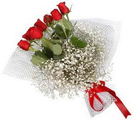 7 adet essiz kalitede kirmizi gül buketi  Bursa çiçekçiler