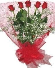 5 adet kirmizi gülden buket tanzimi  Bursa çiçek servisi , çiçekçi adresleri