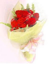 9 adet kirmizi gül buketi  Bursa ucuz çiçek gönder