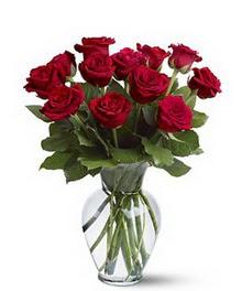 Bursa çiçek online çiçek siparişi  cam yada mika vazoda 10 kirmizi gül