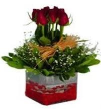 Bursa çiçek mağazası , çiçekçi adresleri  7 adet mika yada cam vazoda gül tanzimi