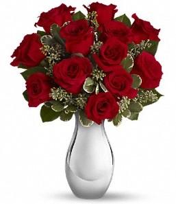 Bursa çiçek satışı   vazo içerisinde 11 adet kırmızı gül tanzimi
