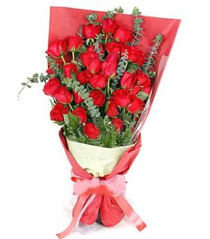 Bursa çiçek mağazası , çiçekçi adresleri  37 adet kırmızı güllerden buket
