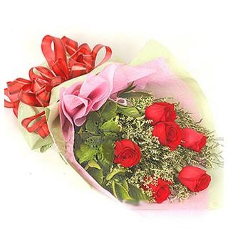 Bursa yurtiçi ve yurtdışı çiçek siparişi  6 adet kırmızı gülden buket