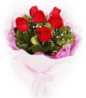 Bursa çiçekçiler  kırmızı 6 adet gülden buket