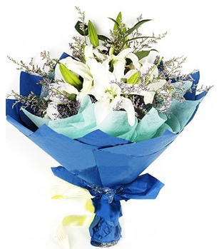Bursa internetten çiçek satışı  4 adet dal kazablankadan görsel buket