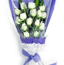 Bursa İnternetten çiçek siparişi  11 adet beyaz gül buket modeli