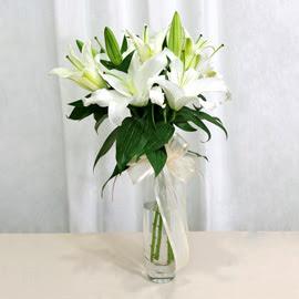Bursa internetten çiçek satışı  2 dal kazablanka ile yapılmış vazo çiçeği