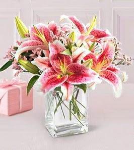 2 dal kazablanka görsel vazosu  Bursa çiçek gönderme sitemiz güvenlidir