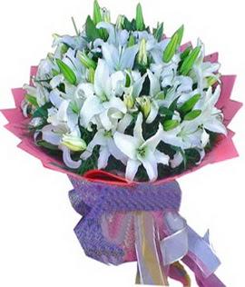7 dal cazablanca görsel buketi  Bursa İnternetten çiçek siparişi