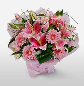 1 dal kazablanka ve kır çiçek görsel buketi  Bursa çiçek yolla