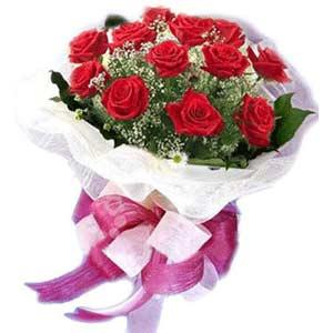 Bursa güvenli kaliteli hızlı çiçek  11 adet kırmızı güllerden buket modeli