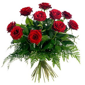 Bursa çiçek mağazası , çiçekçi adresleri  10 adet kırmızı gülden buket