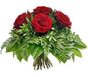 Bursa online çiçek gönderme sipariş  5 adet kırmızı gülden buket