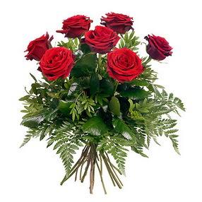 Bursa çiçek , çiçekçi , çiçekçilik  7 adet kırmızı gülden buket