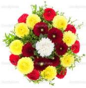 Bursa İnternetten çiçek siparişi  13 adet mevsim çiçeğinden görsel buket