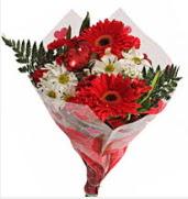 Mevsim çiçeklerinden görsel buket  Bursa çiçek gönderme