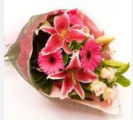1 dal kazablanka ve mevsim çiçekleri  Bursa çiçekçi telefonları